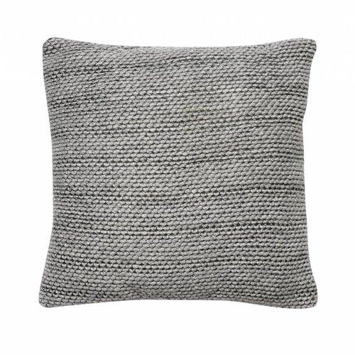 Hubsch sierkussen grijs textiel
