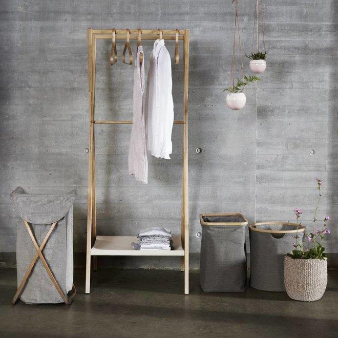 wasmand grijs textiel/bamboe