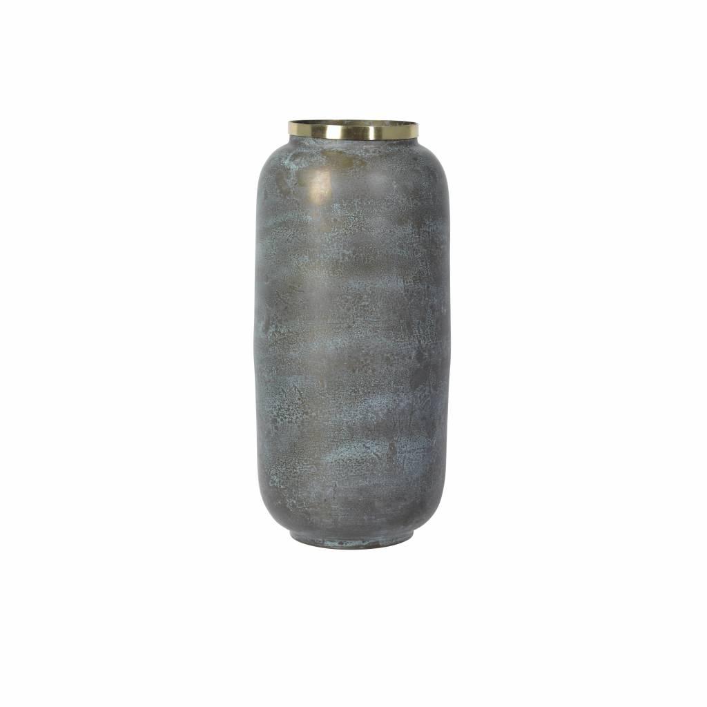 Broste Copenhagen vaas groen/goud metaal-71113078-5710688105076