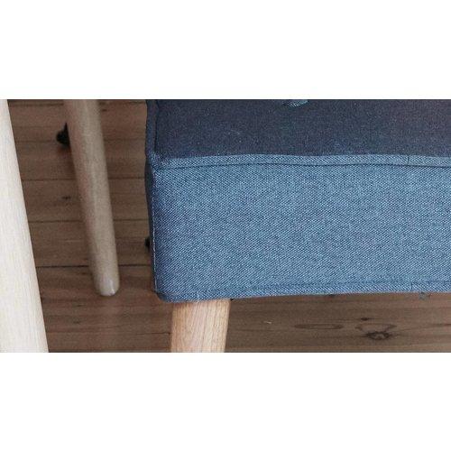 Hubsch bank naturel/donkergrijs hout/stof