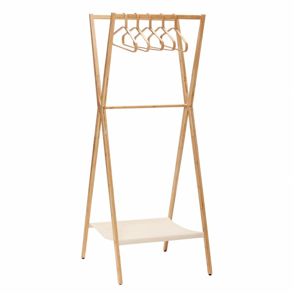 Hubsch kledingrek bruin bamboe-240401-5712772058350