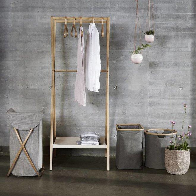 Hubsch kledingrek bruin bamboe - 240401