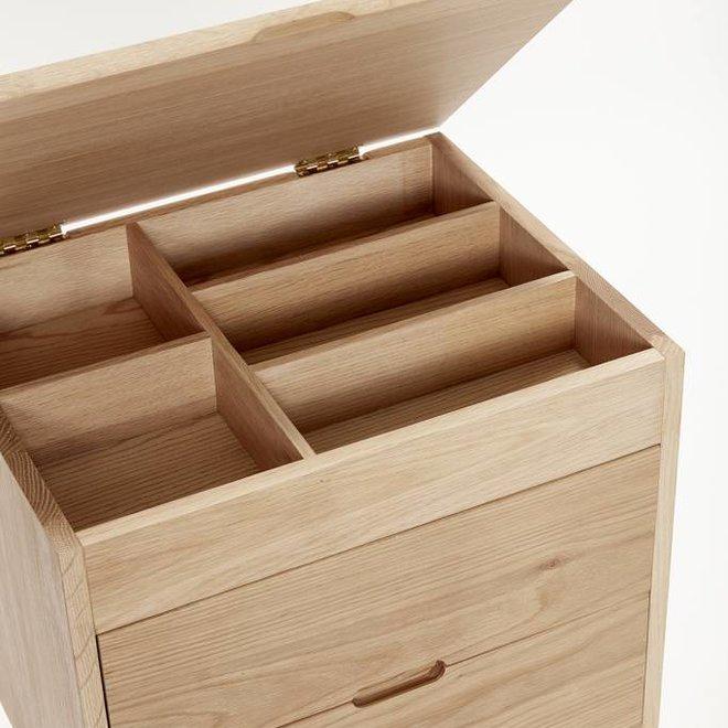 Hubsch kast bruin eikenhout - 880307