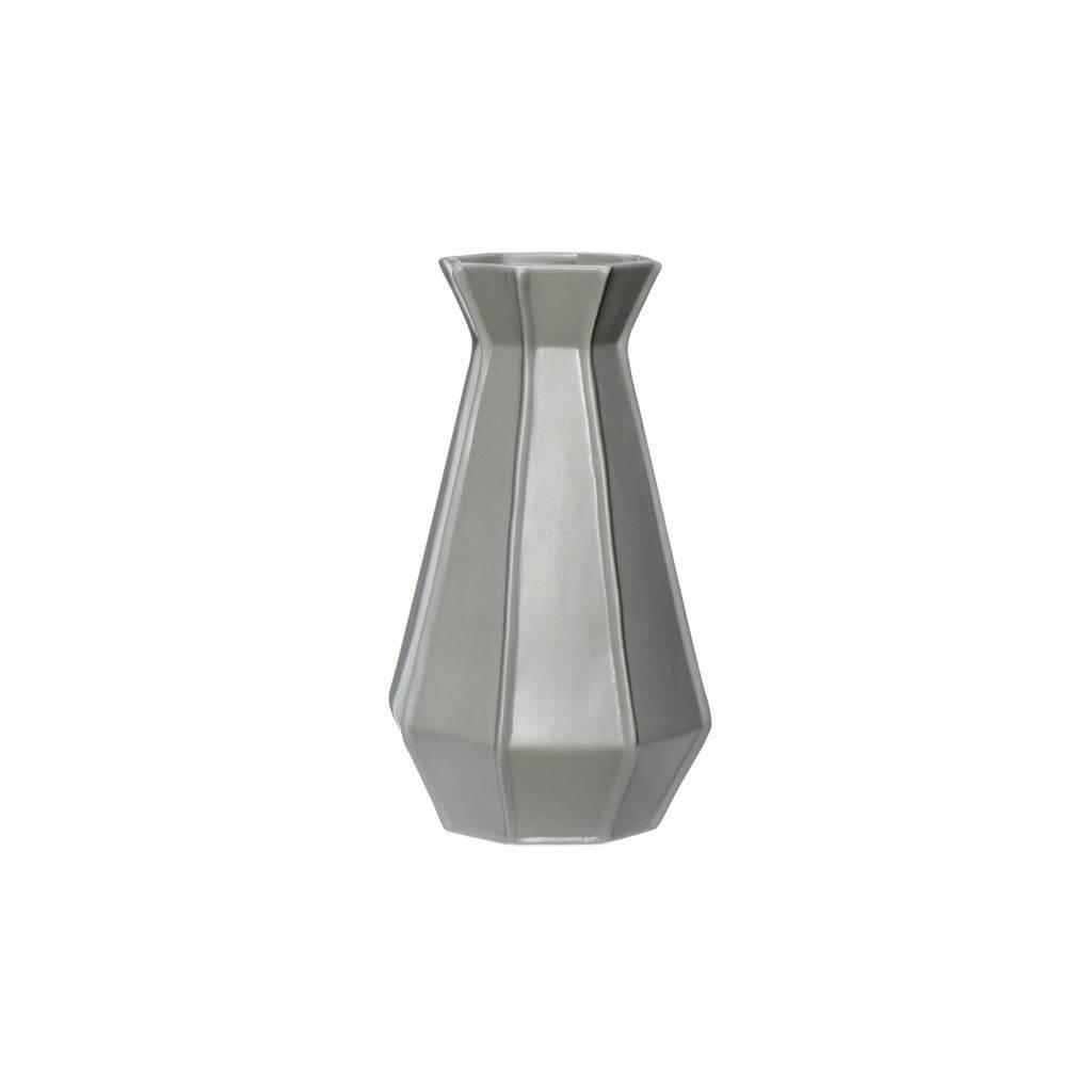 Hubsch vaas grijs aardewerk - 250202