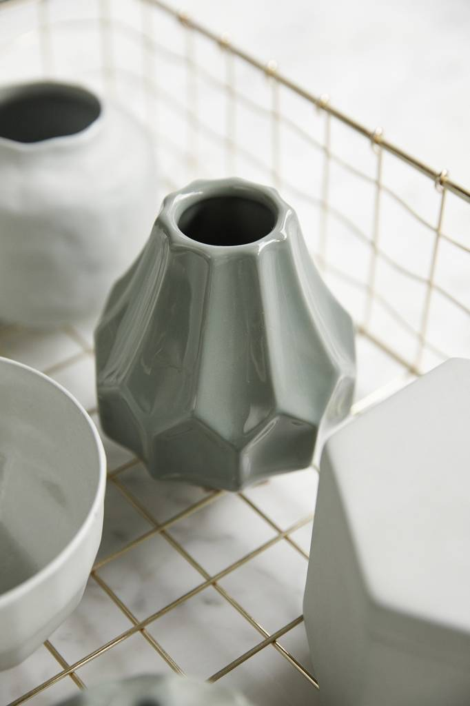 Hubsch vaas groen aardewerk-648004-