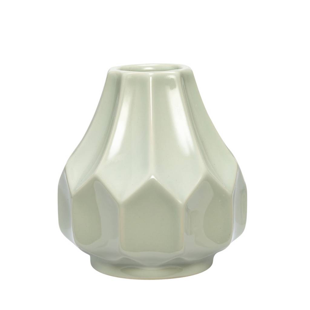 Hubsch vaas groen aardewerk-648005-