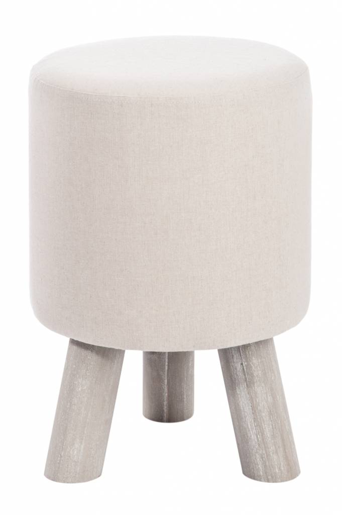 J-line kruk beige/grijs textiel/hout