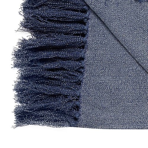 Hubsch plaid blauw katoen visgraat