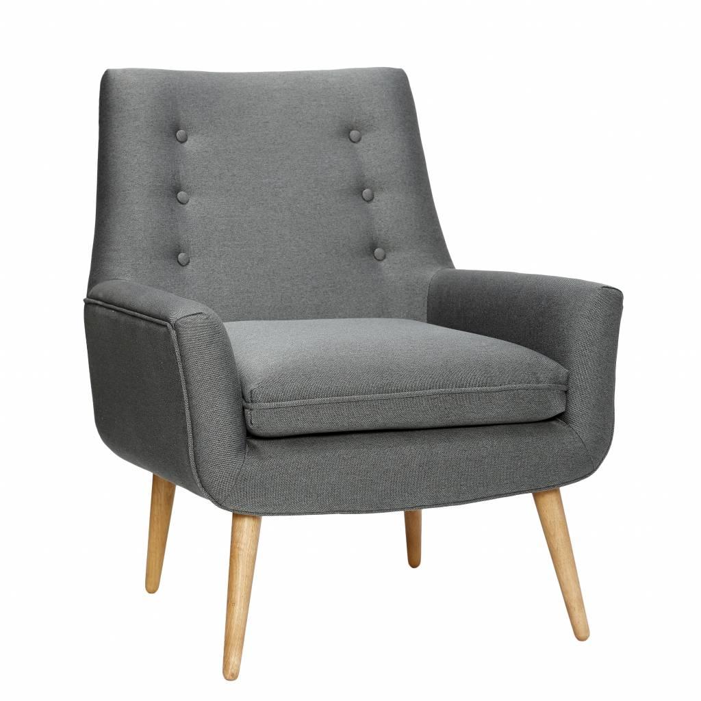 Hubsch Fauteuil - Arianda - Grijs - Design-100101-