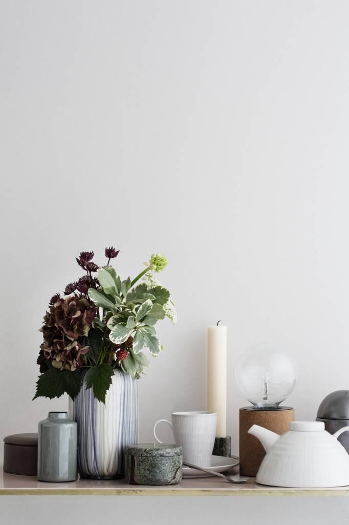 Broste Copenhagen theepot ivoor/wit aardewerk