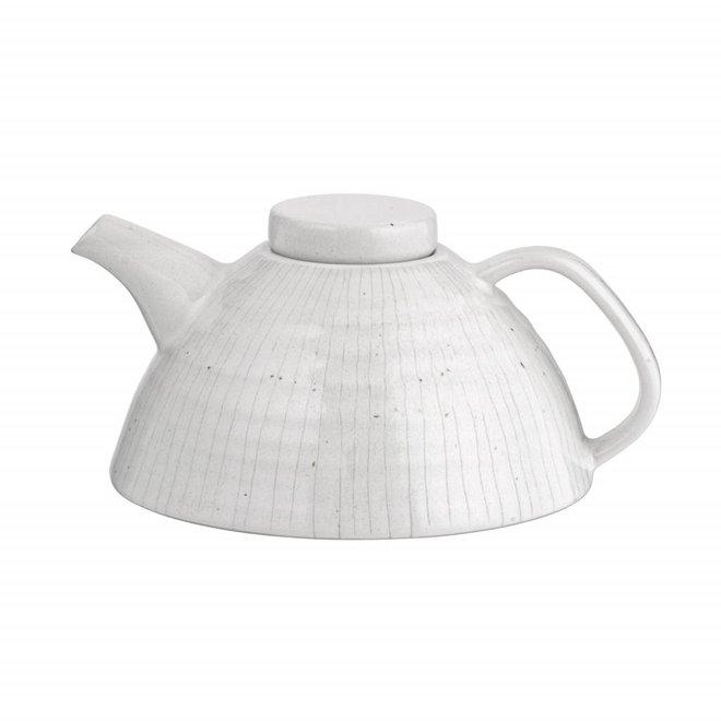 theepot ivoor/wit aardewerk