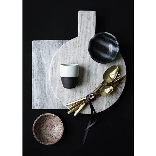 Broste Copenhagen beker grijs/ivoor aardewerk