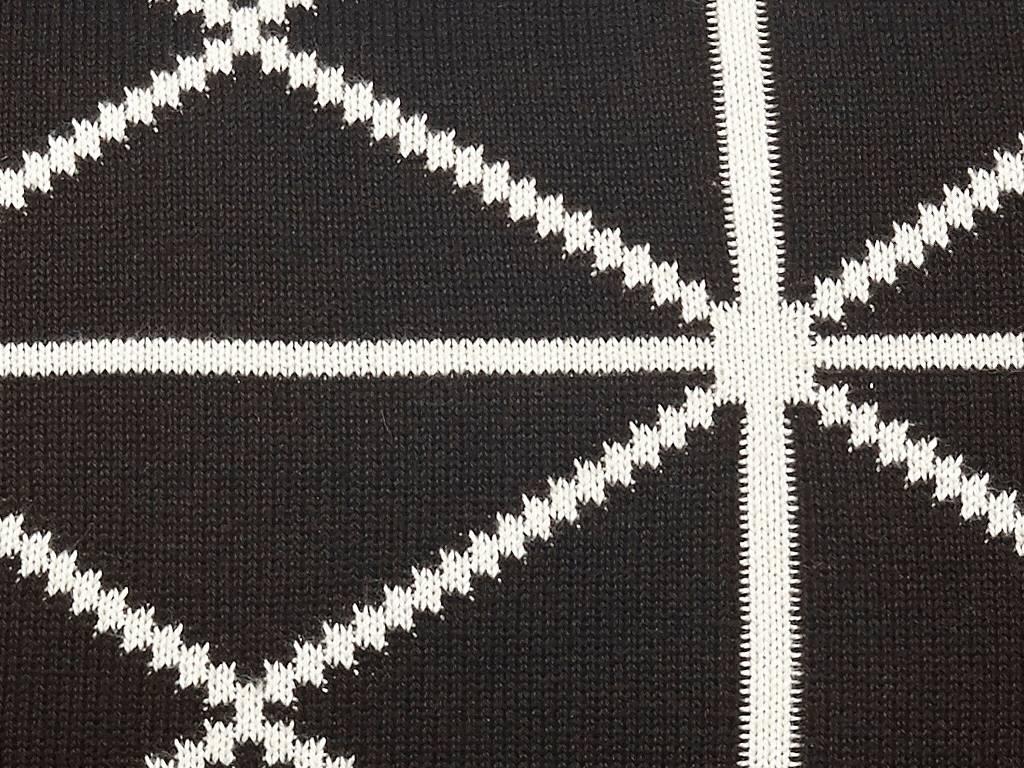 Hubsch sierkussen zwart/wit katoen-229009-5712772041970