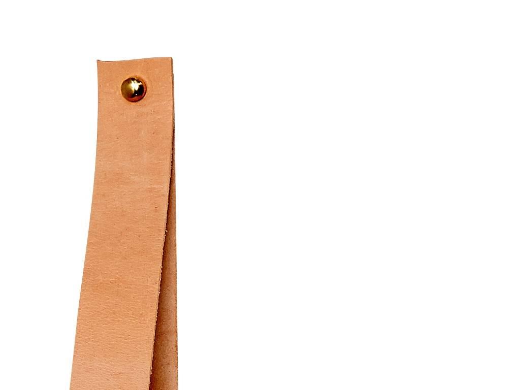 Hubsch wandplank met leren riem - eikenhout - 60 x 20 cm-379001-