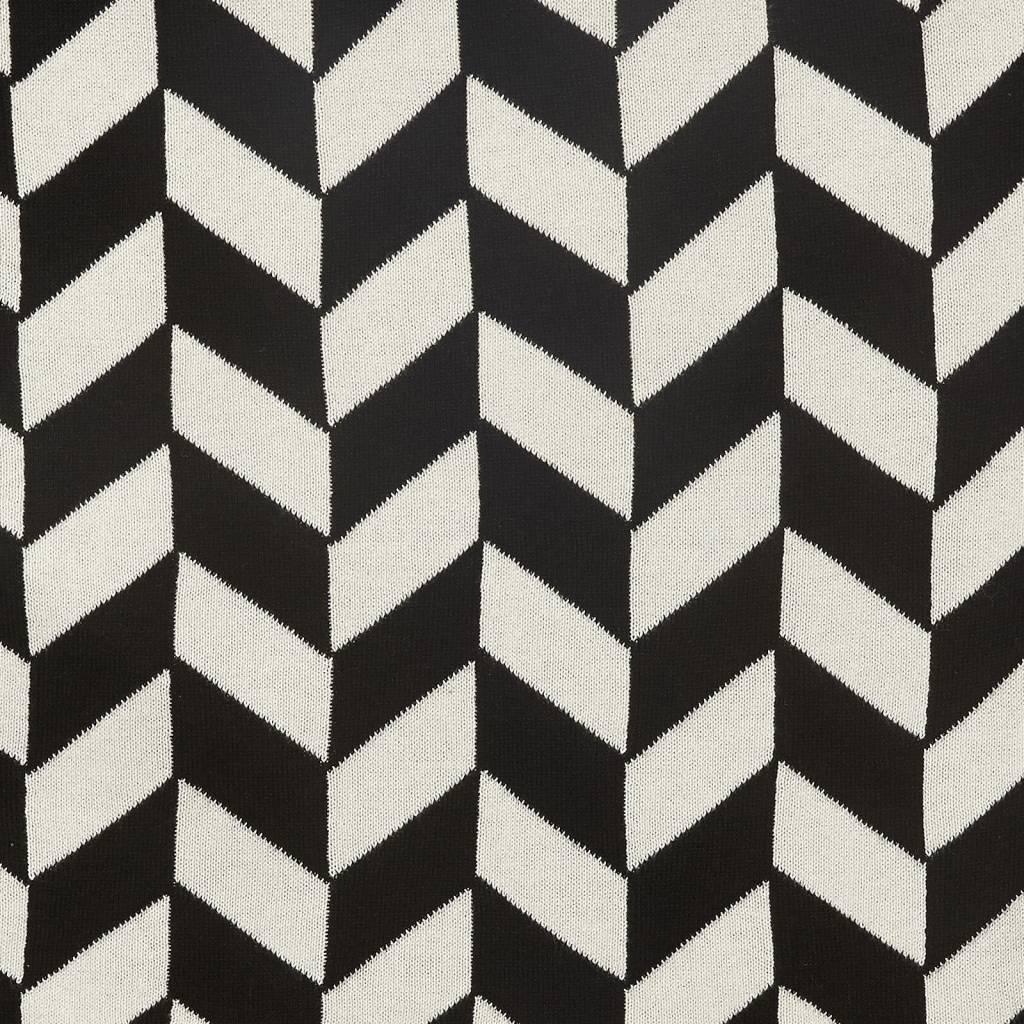 Hubsch plaid zwart/wit katoen