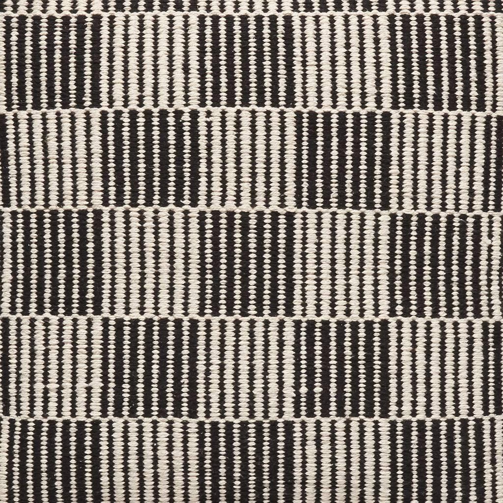 Hubsch sierkussen zwart/wit wol-740602-