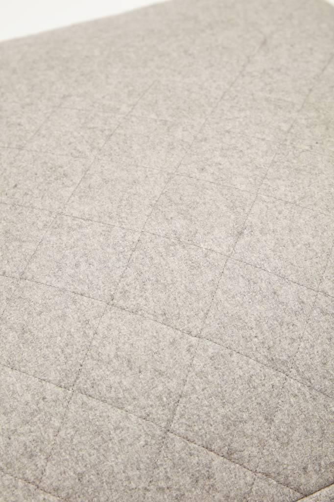 Hubsch poef grijs wol-700601-