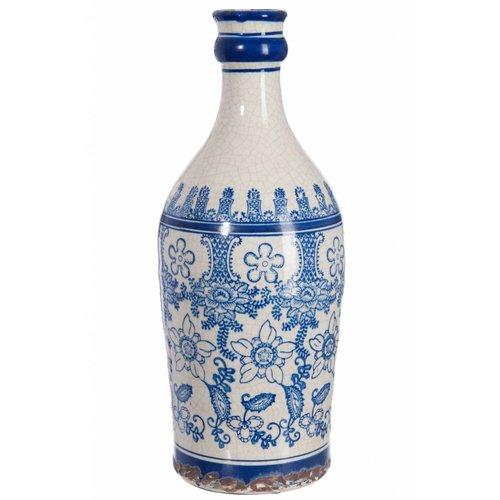 Winkel voor Thuis Collectie vaas blauw/wit aardewerk