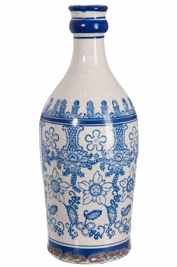 J-line vaas blauw/wit aardewerk
