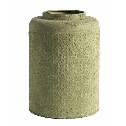 Nordal bloempot groen metaal