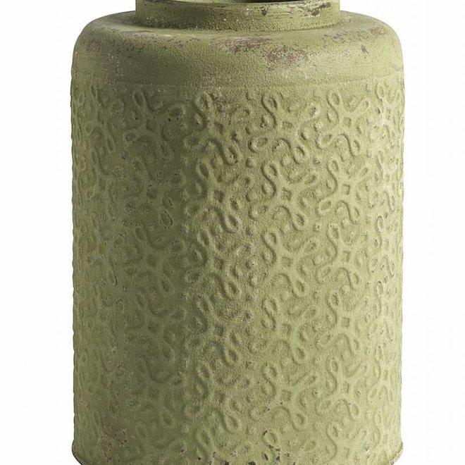 bloempot groen metaal