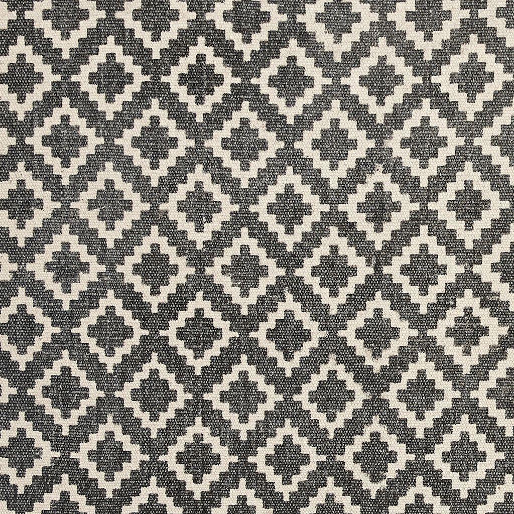 Hubsch vloerkleed Patroon - naturel/grijs katoen - 60 x 120 cm-509017-