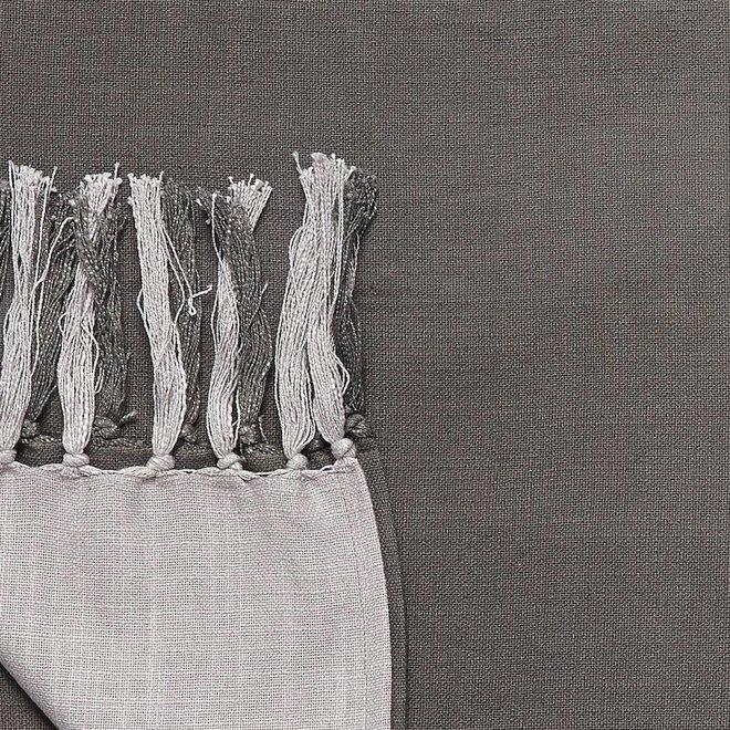 Hubsch plaid grijs katoen - 509004