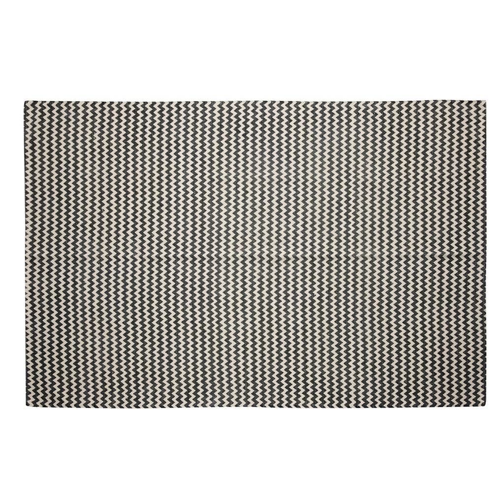Hubsch Vloerkleed Zigzag patroon - Grijs/naturel Katoen - 180 x 120 cm-509020-5712772042380