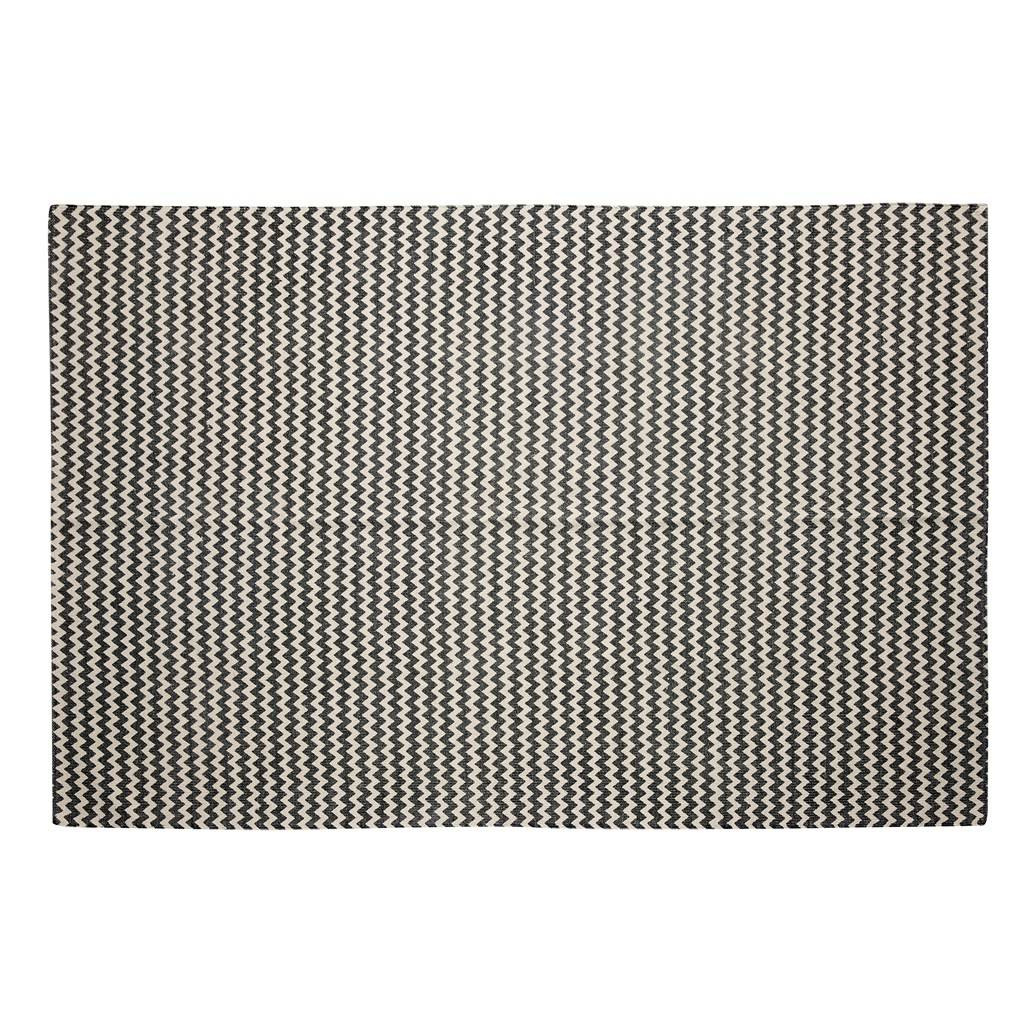 Hübsch Vloerkleed Zigzag Patroon Grijsnaturel Katoen 180 X 120