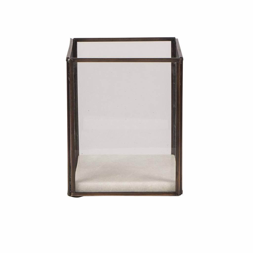 Broste Copenhagen Windlicht Square koper, metaal en glas-71111638-5710688017812