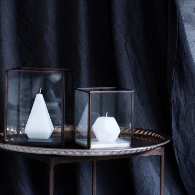 Broste Copenhagen Windlicht Square koper, metaal en glas - 71111638