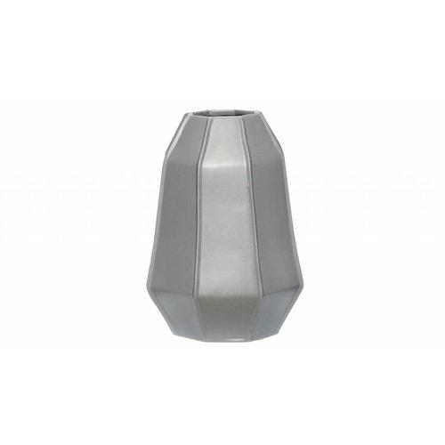 Hubsch vaas grijs aardewerk