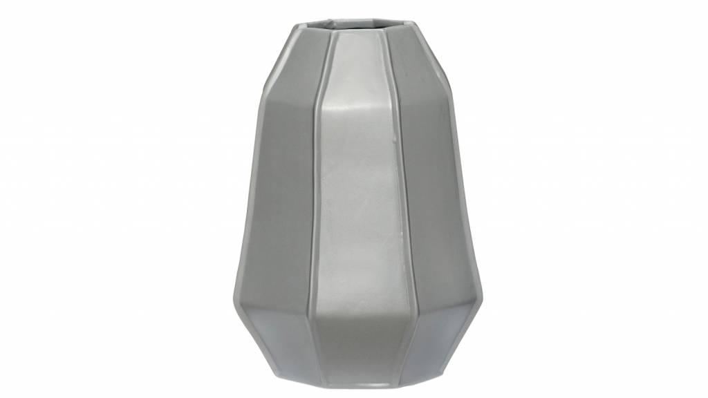 Hubsch vaas grijs aardewerk-250204-5712772051818