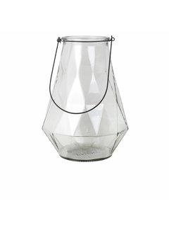 Broste Copenhagen vaas naturel/zwart glas/metaal. Broste Copenhagen 70277603