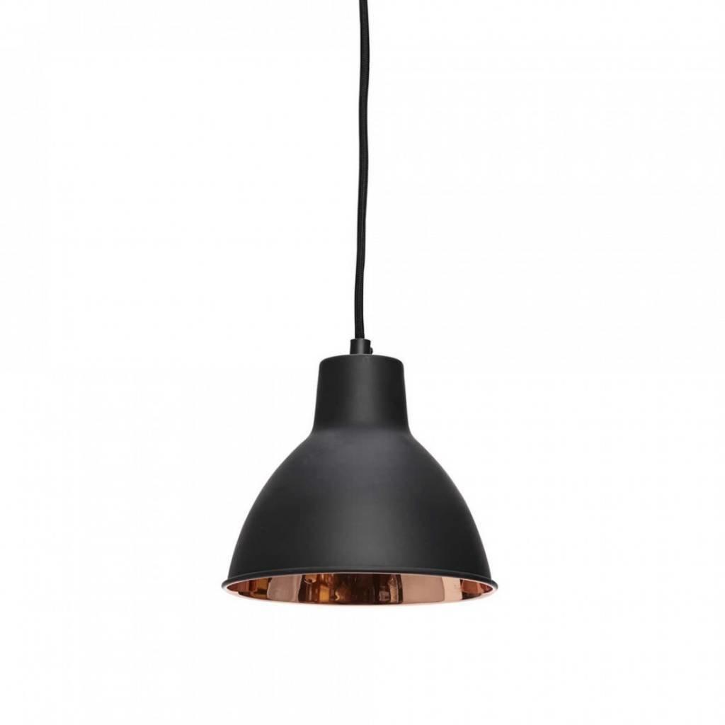 Hubsch hanglamp zwart/koper metaal - 407004