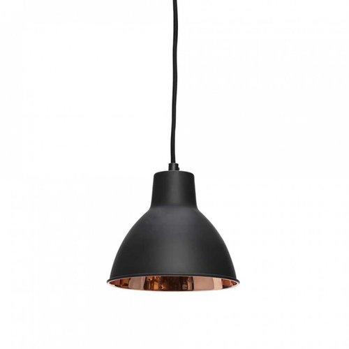 Hubsch hanglamp zwart/koper metaal