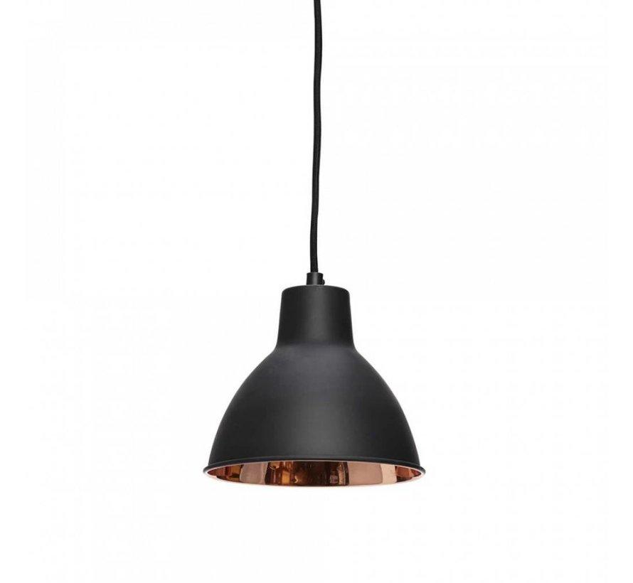 hanglamp zwart/koper metaal