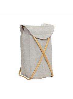 Hubsch wasmand bruin/grijs bamboe/textiel. Hubsch 70802627