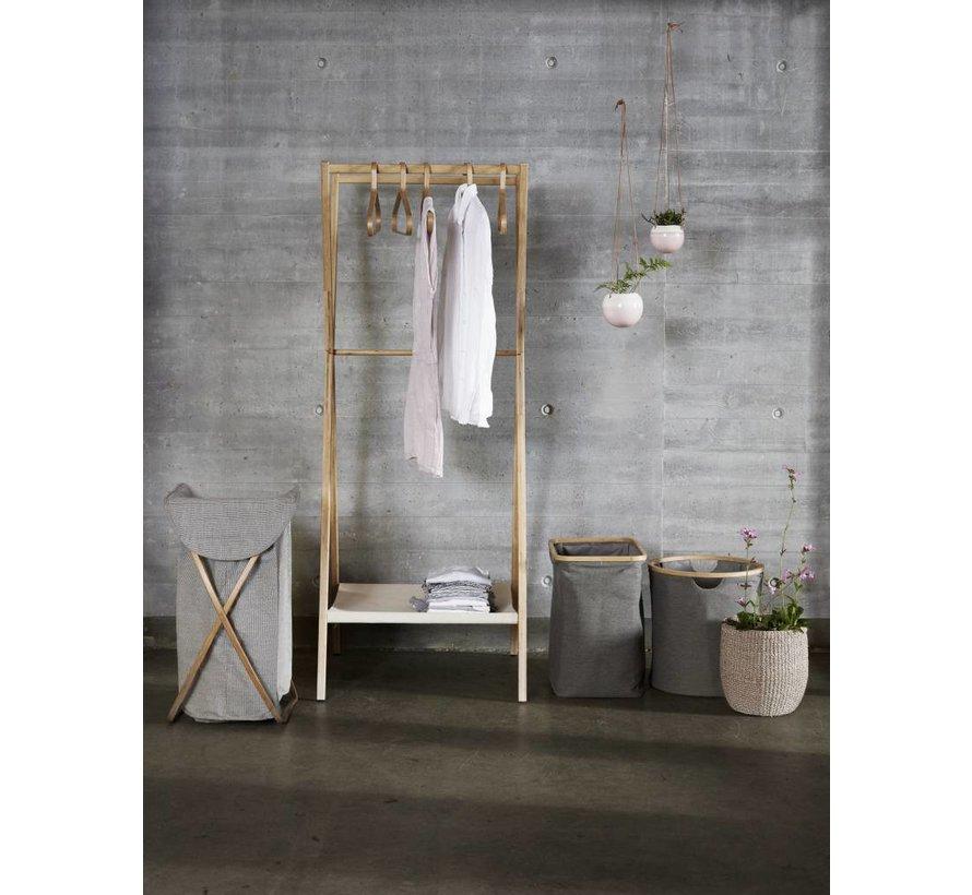 wasmand bruin/grijs bamboe/textiel