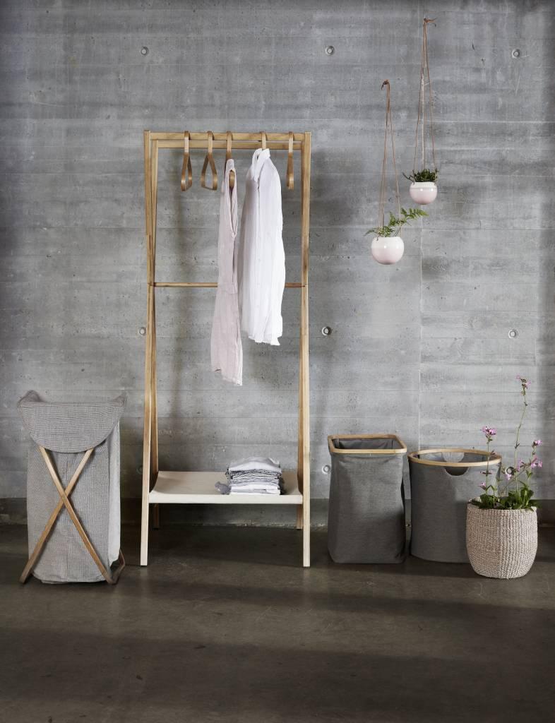 Hubsch wasmand bruin/grijs bamboe/textiel
