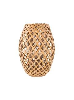 Broste Copenhagen windlicht bruin bamboe/glas. Broste Copenhagen 71602304