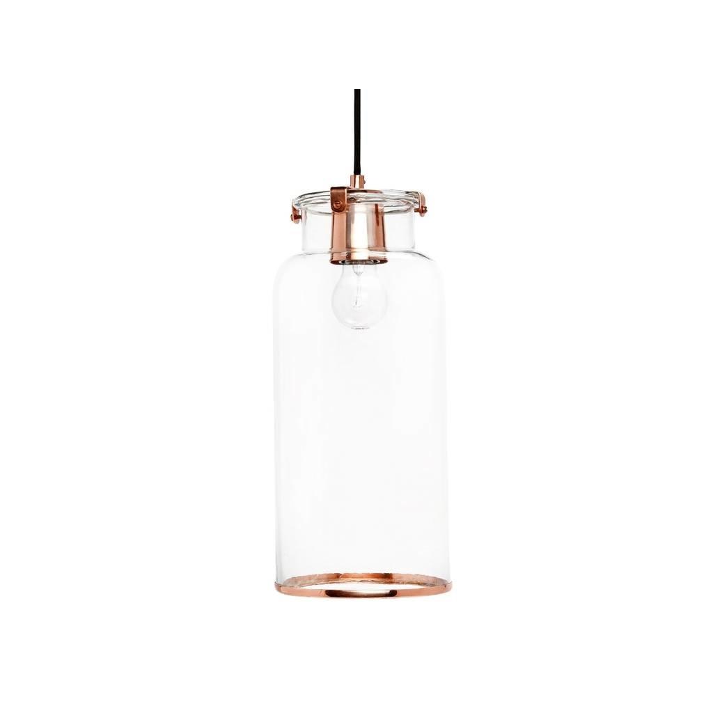Hubsch hanglamp koper metaal/glas - 408039