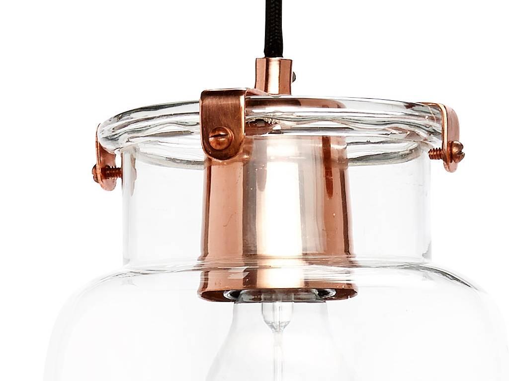 Hubsch hanglamp koper metaal/glas