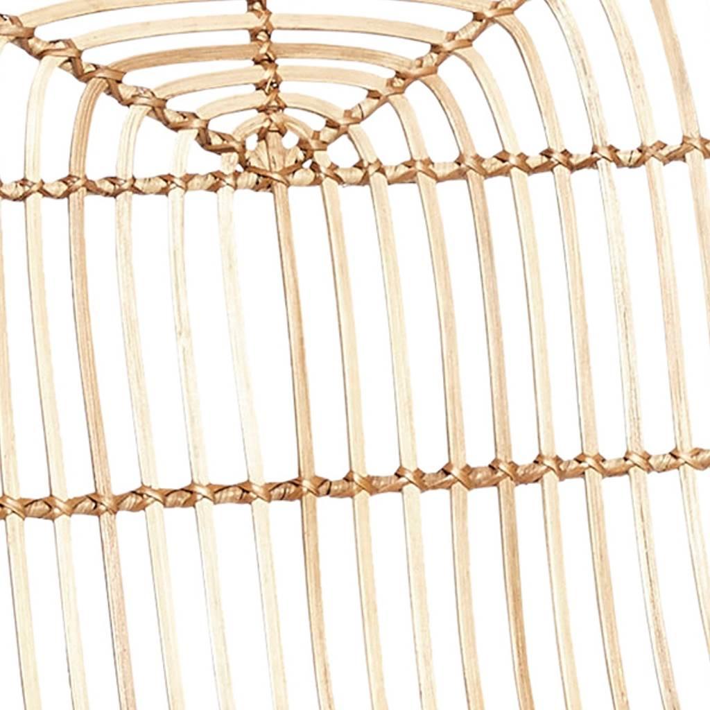 Hubsch eetkamerstoel - naturel - rotan - set van 4-118001-5712772035900