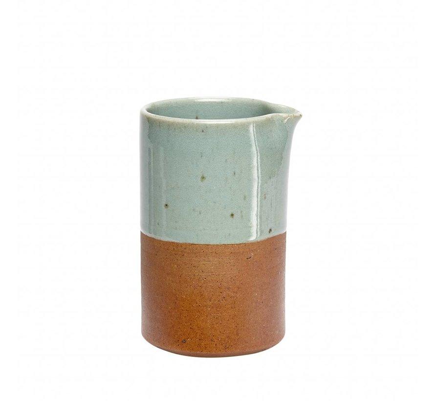 kan blauw/bruin aardewerk