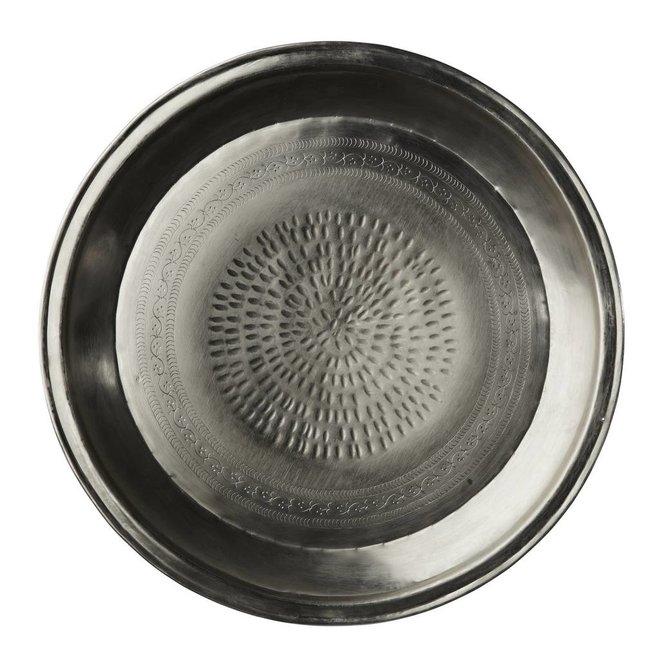 dienblad zilver metaal rond