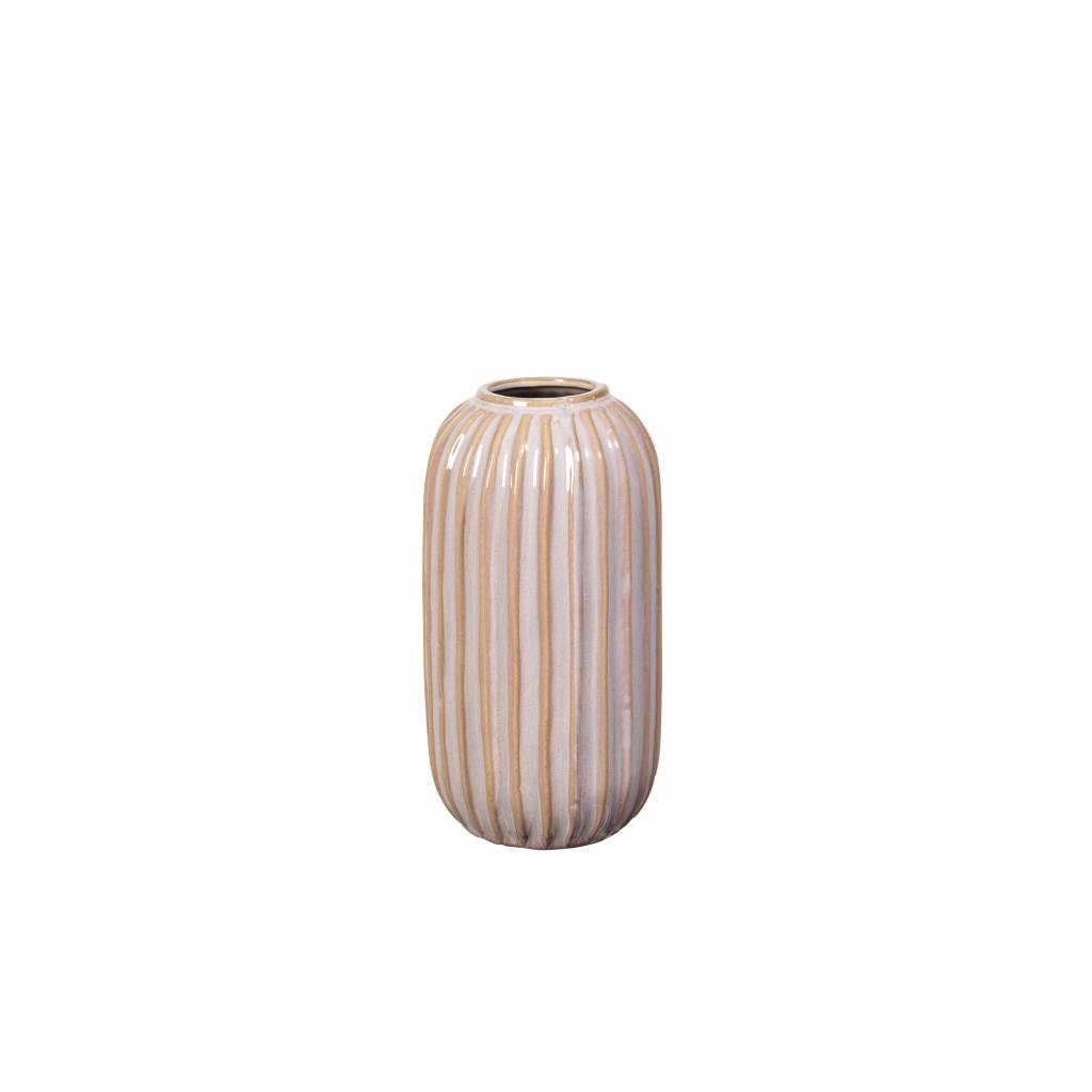 Broste Copenhagen vaas poederroze aardewerk-15500111-5710688109944