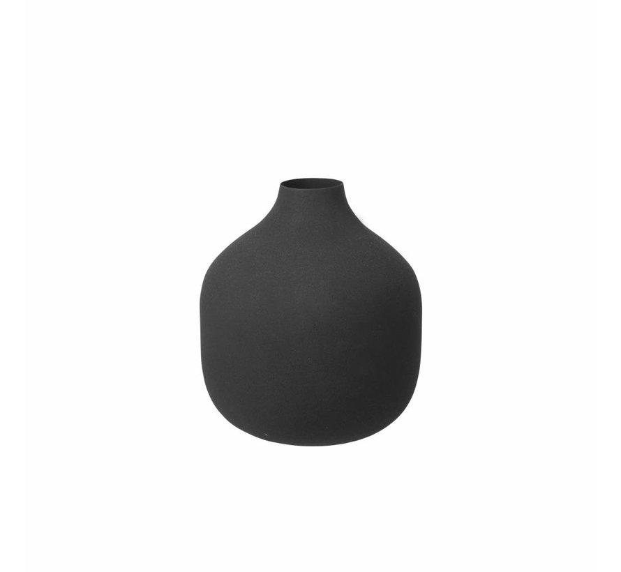 vaas, metaal, zwart, matte afwerking, ø14 x 17 cm