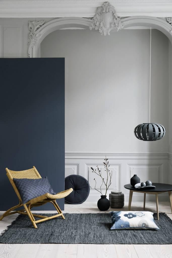 Broste Copenhagen Vaas, metaal, Zwart, Matte Afwerking, Ø14 x 17 cm. Broste Copenhagen 71111929