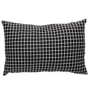Hubsch sierkussen, polyester textiel, zwart, ruiten, 40 x 60 cm